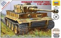 Сборная модель Немецкий тяжелый танк T-VI Тигр 1/72