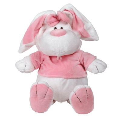 Мягконабивная Кролик белый сидячий 56 см.