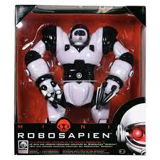 Робот Робосапиен мини на батарейках черно-белый