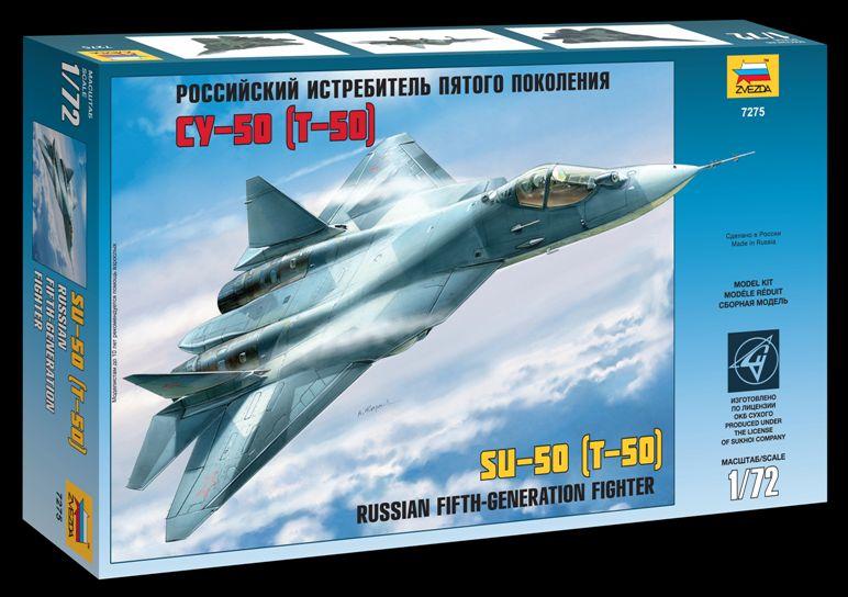Сборная модель Российский истребитель пятого поколения СУ-50 1/72