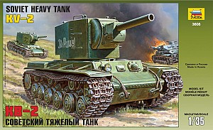 Сборная модель Советский тяжелый танк КВ-2 1/35