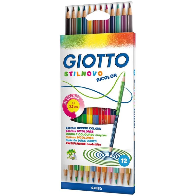 Карандаши цветные 24 цв Giotto Stilnovo двусторонние