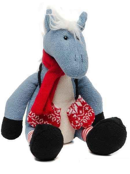 Игрушка мягконабивная Лошадь с рукавичками 28см