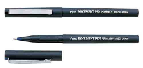 Роллер Pentel Document Pen синий