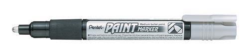 Маркер перм. серебряный Pentel Paint