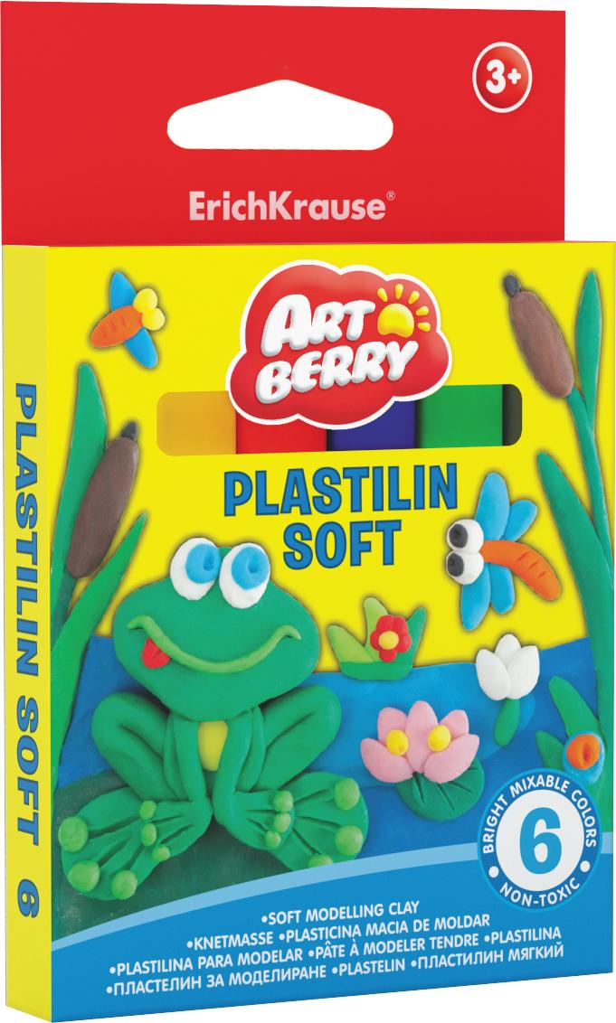 Пластилин 6 цв EK Artberry мягкий