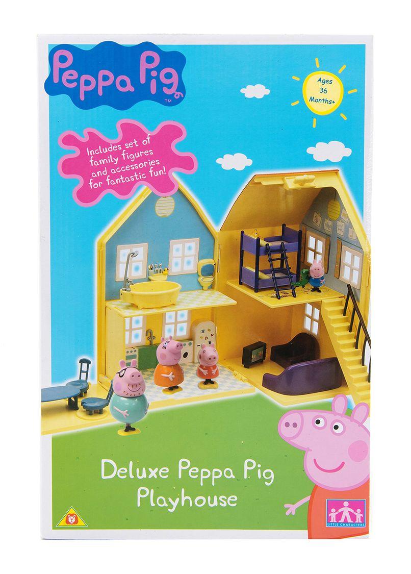 набор Дом Пеппы (Папа, мама, Джордж, Пеппа, мебель )