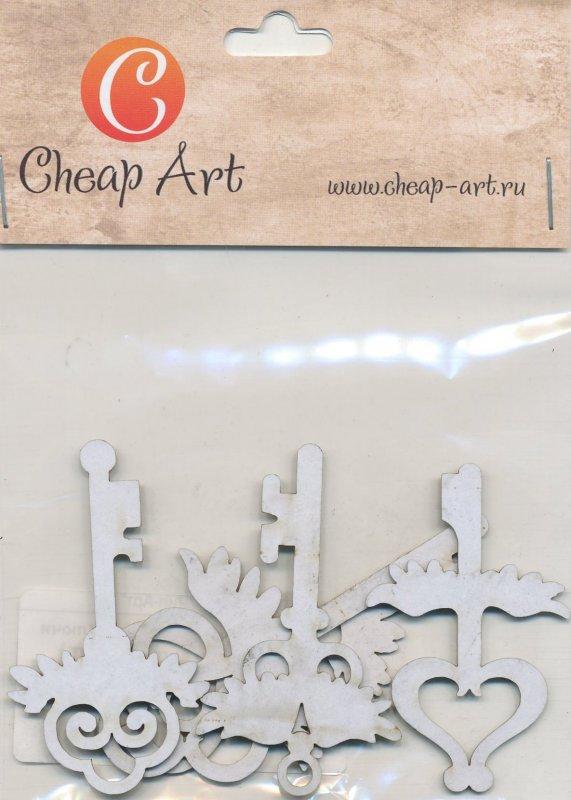Заготовка из картона Декоративный элемент Ключи маленького ангела 5шт