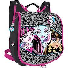 Рюкзак детский Monster High мини черный с малиновым