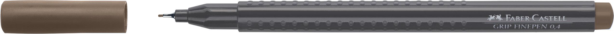 Ручка капиллярная FC Grip Finepen 0.4мм коричневый / охра