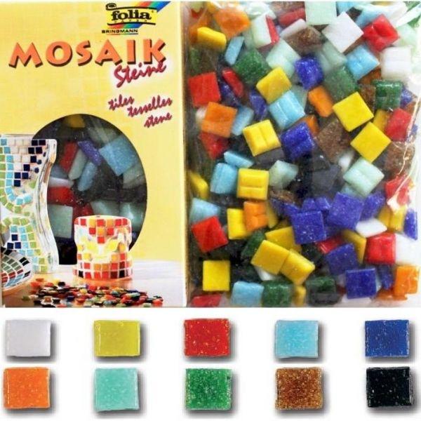 Мозаика 10*10мм стеклянная Ассорти 10цв 300шт