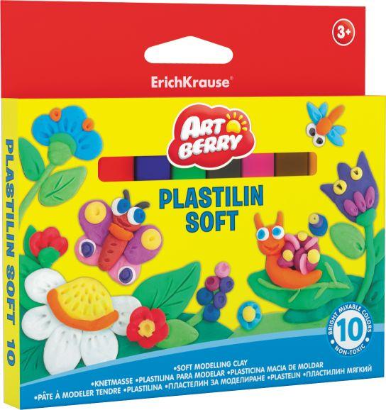 Пластилин 10 цв EK Artberry 150гр