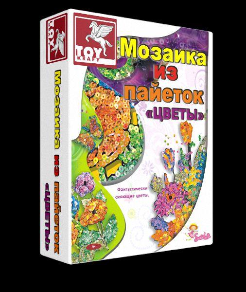 Творч Мозаика из пайеток Цветы