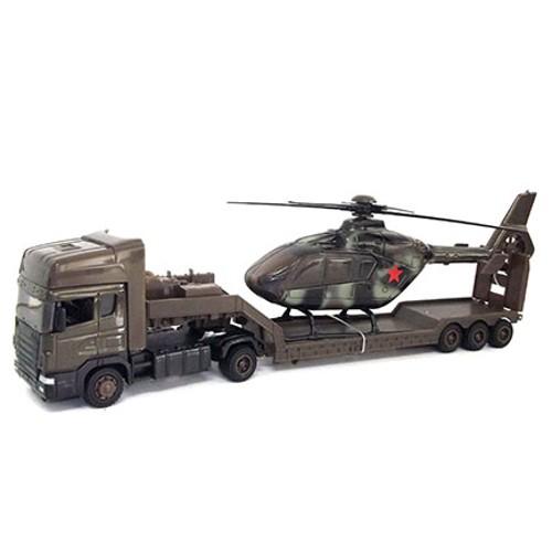 Машина Scania Transport Военная с вертолетом