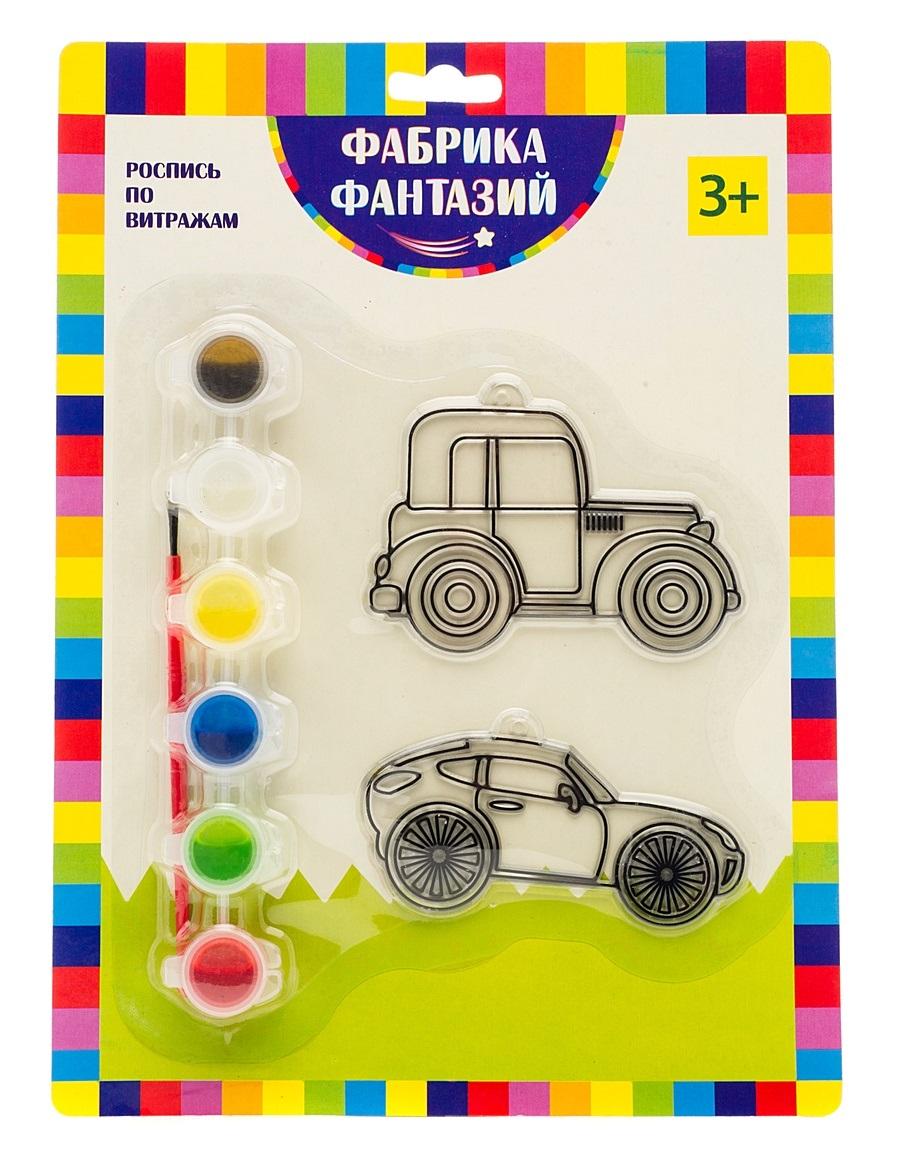 Творч Набор для росписи витража Машинки