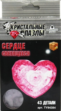 Пазл 3D Crystal Puzzle Сердце L NEW Светильник 43 дет.