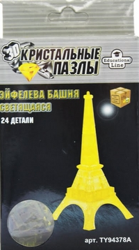 Пазл 3D Crystal Puzzle Эйфелева Башня L NEW Светильник 24 дет.