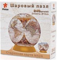 АКЦИЯ19 Пазл 3D Шаровый Старинная карта 15 см 240 дет