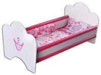 Кроватка для куклы Корона (деревян.)