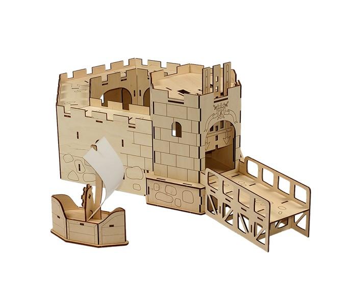 АКЦИЯ19 Конструктор деревянный Вуди Королевский форт 70 дет