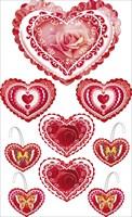 Набор 088.334 Сердечки: Настенное оформление на воблерах и скотче