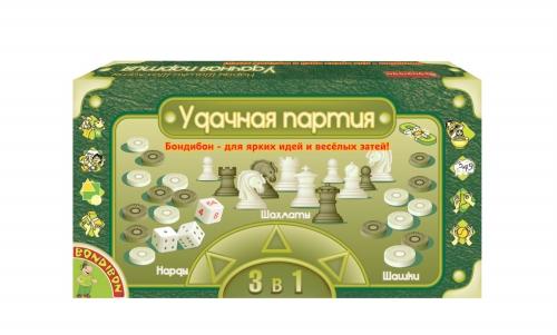 Настольная 3 в 1 Шашки, шахматы, нарды (магнитные) 20 см