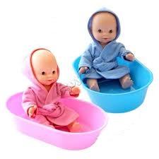 Кукла Пупс в ванночке 22см. пластмас.