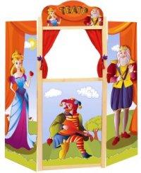 Ширма для домашнего кукольного театра напольн., дерев. 94х99 см