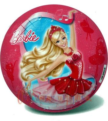 Мяч 14см Барби в розовых туфлях