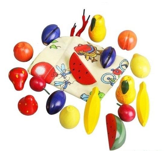Волшебный мешочек Фрукты-ягоды цветн. дерев.