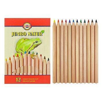 Карандаши цветные 12 цв K-I-N Jumbo Natur