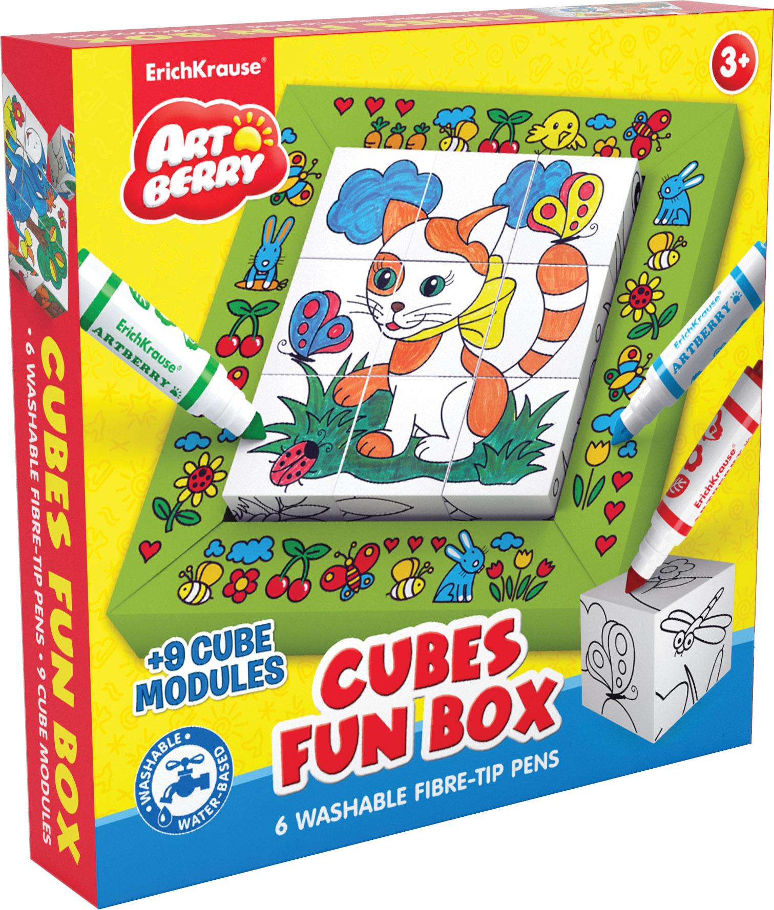 Набор EK Cubes Fun box Artberry (фломастеры + кубики д/раскраш)