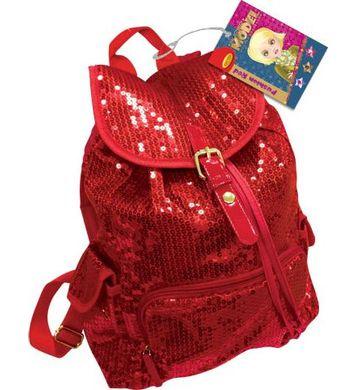 Рюкзак Limpopo Super Model красный с пайетками