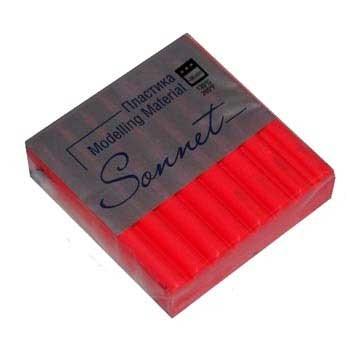 Пластик запекаемый Сонет 56г флуор. Красный