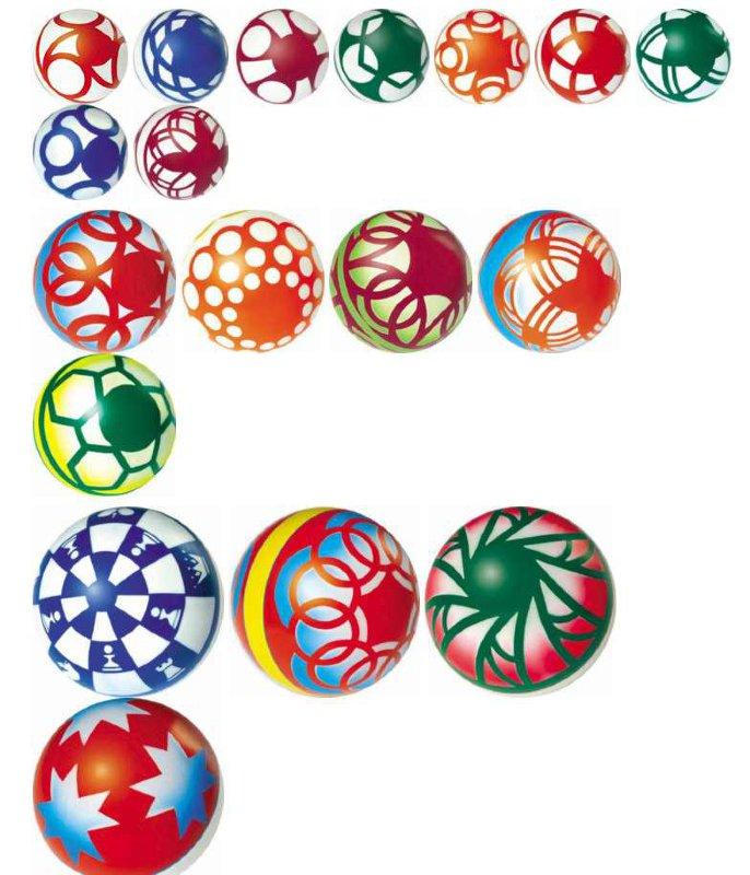 Мяч 100мм лакир.