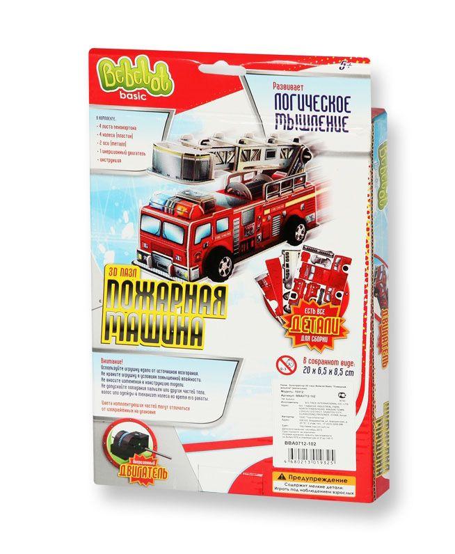 Конструктор 3D-пазл Пожарная машина (+инерц. двигатель)