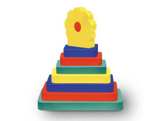 Конструктор мягкий Пирамидка Цветочек