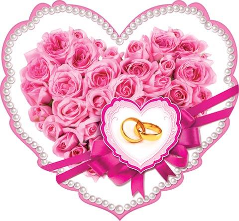 Открытка открытки свадьба сердечки, фиксики прозрачном фоне