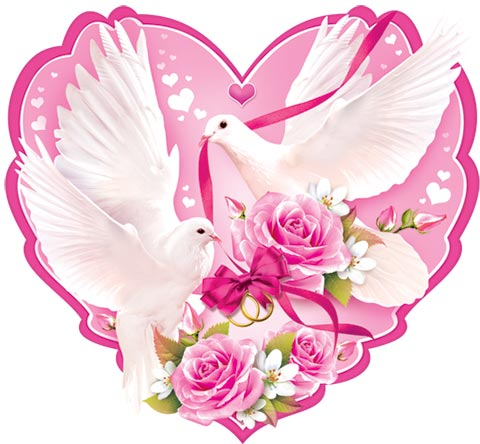 Свадебные открытки сердце