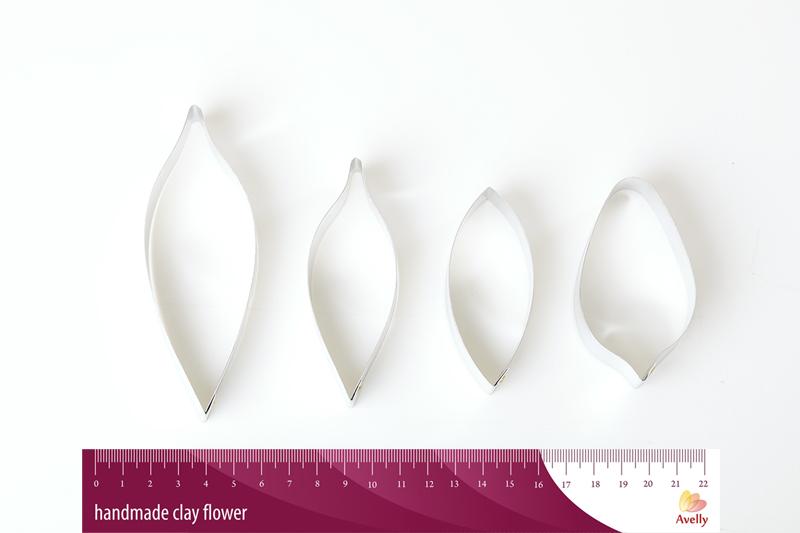 Форма метал Лепесток и лист Лилия M