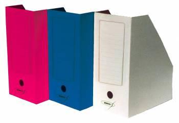 Лоток верт 1отд картон бумажный 150 мм цветной ассорти