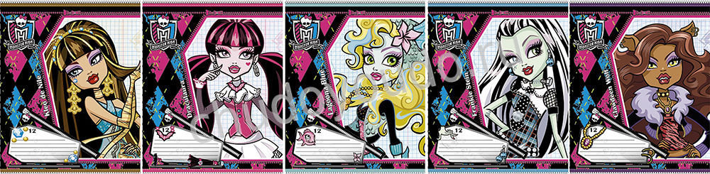 Тетрадь 24л клетка Monster High Школа Монстров