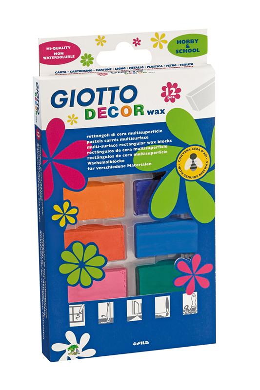 Мелки восковые 12цв Giotto Decor