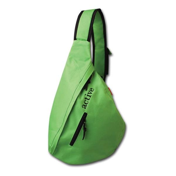 Рюкзак Hatber Delta Green Зеленый на одно плечо