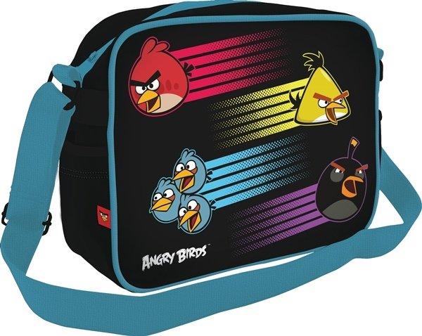 Сумка молодежная Angry Birds на ремне черная