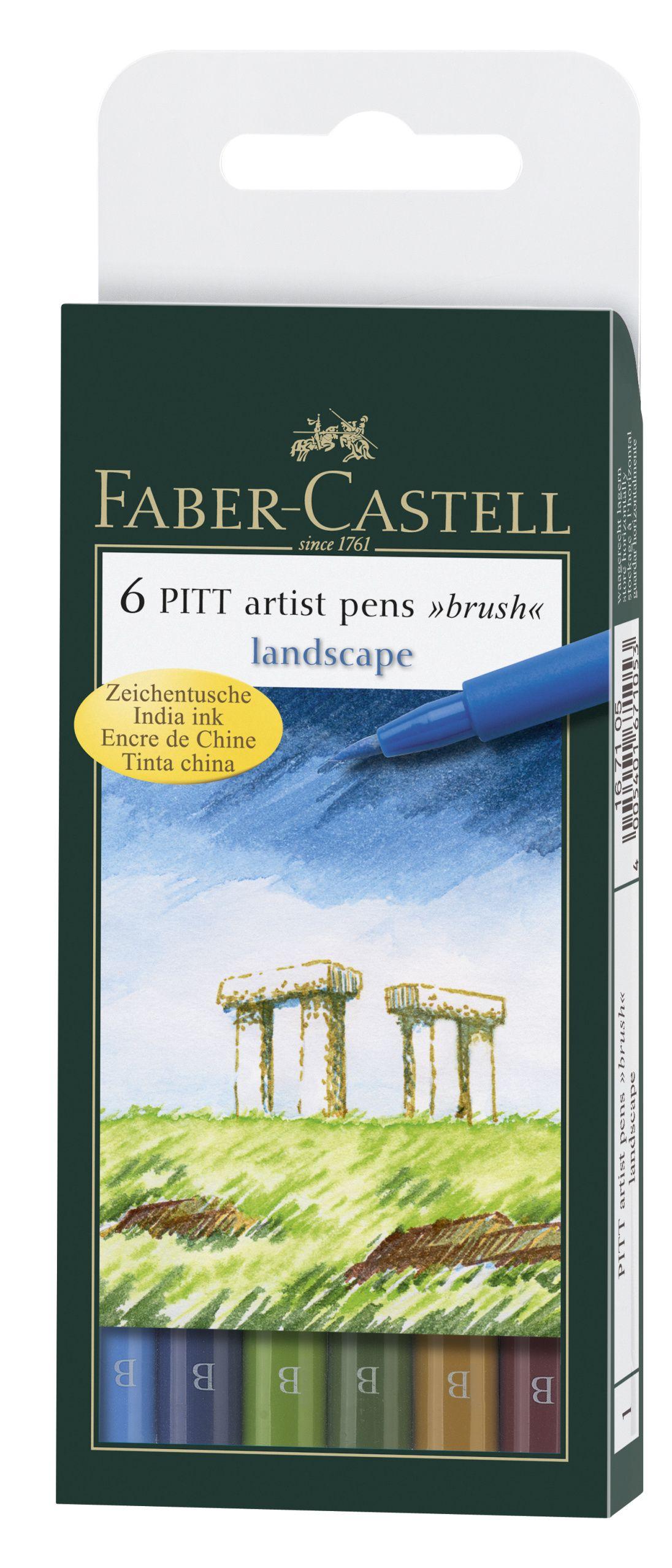 Ручки капиллярные 6 цв FC натуральные оттенки