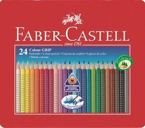 Карандаши цветные 24 цв FC акварельные мет. коробка