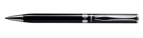 Ручка подар. Pentel Sterling черная 0,8мм корпус черный