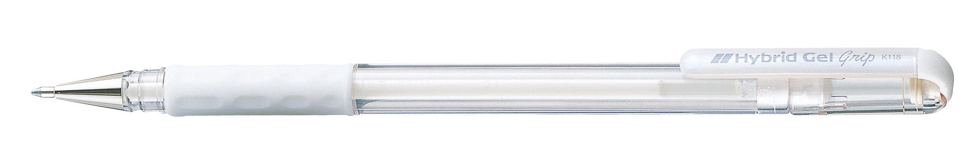 Ручка гелевая белая Pentel Hybrid 0,8мм