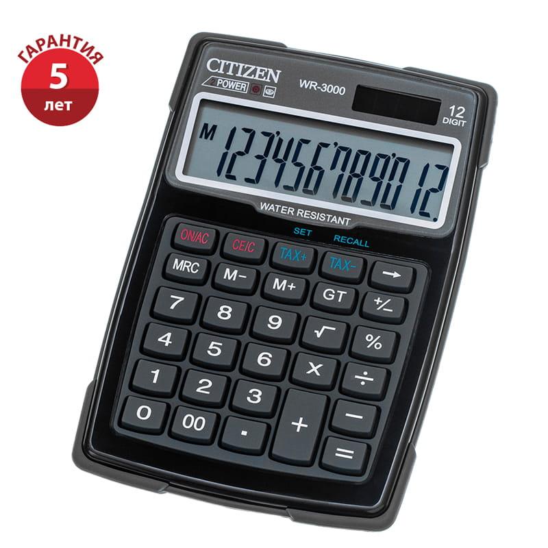Калькулятор 12 разр. CITIZEN 106*152*38 водостойкий